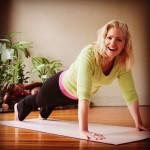 Stacey Morris doing pushups